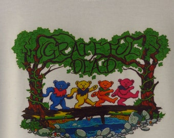 Bears in the Woods Grateful Dead Tshirt 100% cotton