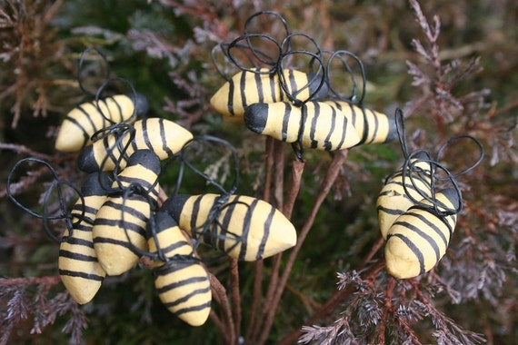 12 primitive artificial bees decor country gathering wreath for Artificial bees for decoration