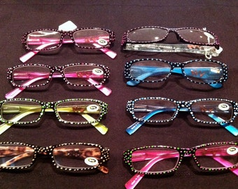 Handpainted Reading Glasses-custom made for book clubs