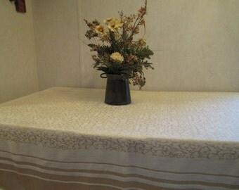 Vintage Yellow Damask Table Cloth