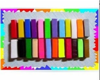 24 Colors Rainbow Polymer Clay DIY Materials for Polymer Clay Crafts