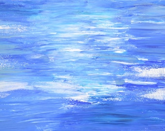 It was cold in that water... Original abstract painting 100x50cm