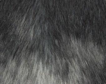 Gray Luxury Shag Faux Fur Fabric