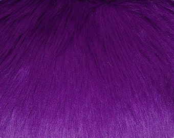 Purple Luxury Shag Faux Fur Fabric