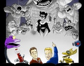 """MYSTERY SCIENCE THEATER 3000 Print, 8.5x11"""" color"""