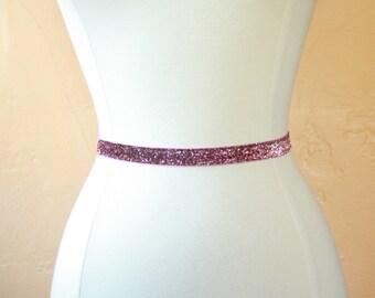 Pink Sparkly Elastic Bridal Belt
