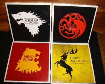 Game of Thrones Coasters (set of 4)