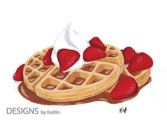 Waffles 5x7 Print from Acrylic Painting