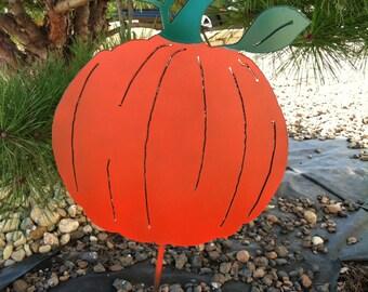 Fall Metal Pumpkin Yard/Garden Stake  Decoration