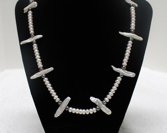 """Genuine Freshwater Pearl 18"""" inches Long Necklace"""
