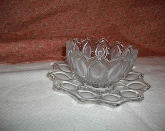 Vintage Glass Relish/Chip Dish