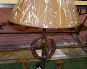 Table Lamp with Horse Hea...