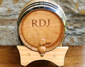 2 Liter Personalized Oak Whiskey Barrel - Mini Whiskey Barrel - Groomsmen Gift - Gift Ideas for Him - Husband Gifts -  GC1028