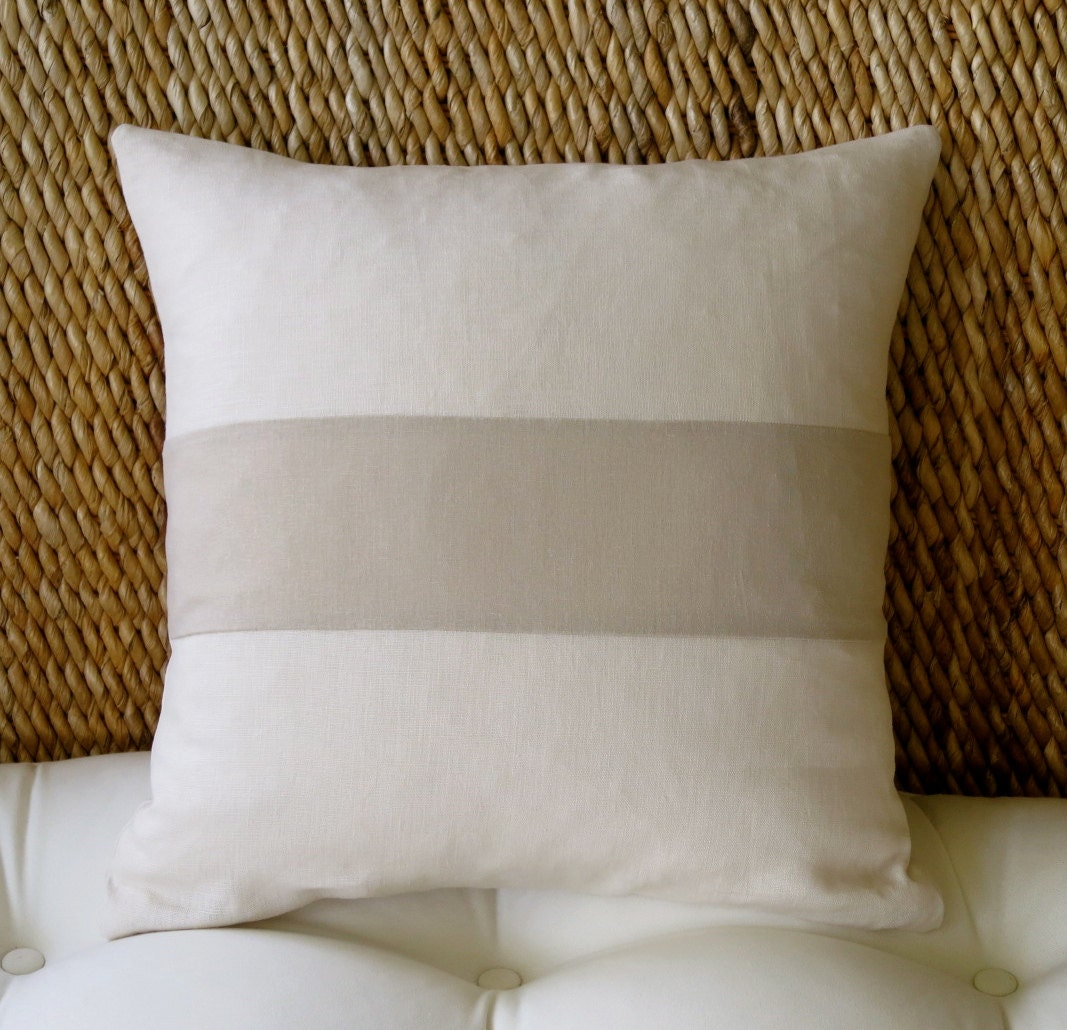 Linen Pillow Cover 18x18 Inch 20 X 20 Inch Couch Pillow