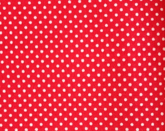 Half Meter 150cm x 50cm Red with Mini Polka Dots Cotton fabric