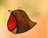 Stained glass Robin, Christmas decoration