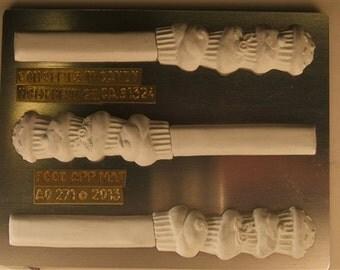 Stacked Cupcakes Pretzel Rod Candy Mold, AO271