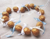 Wedding Guest Gift, Set of 50 Golden Nuts  with Message Unique gift Wedding decor