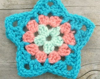 Granny Star Crochet pattern / tutorial PDF file