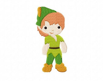 4X4 Neverland Boy Machine Embroidery Design Multiple Formats Available - Instant Download