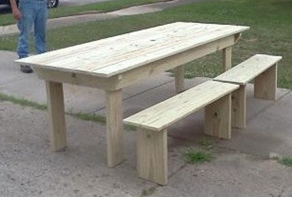 Picnic Table With Drink Troughs Local Pickup Available