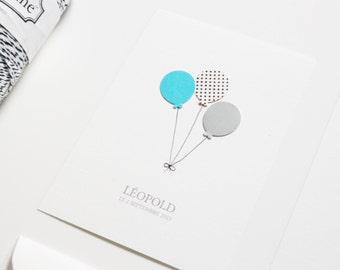 """Faire-part de naissance """"Léopold"""", lot de 10"""