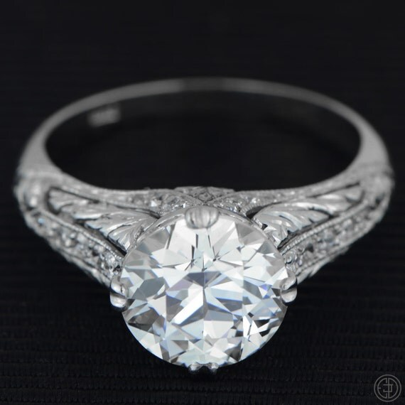 Antique Diamone Ring from Estate Diamond Jewelry On Etsy