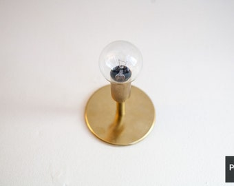Minimal Brass Wall or Ceiling Light