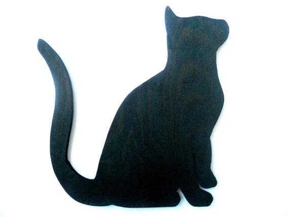 vintage schwarze katze holz figur halloween katze figur katze. Black Bedroom Furniture Sets. Home Design Ideas
