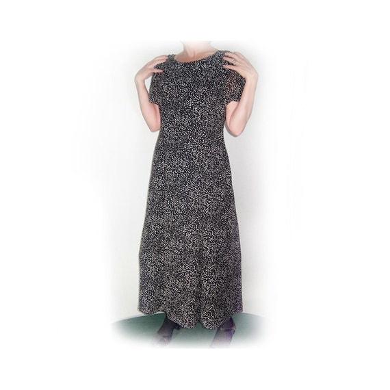 Vintage talbots dress 1980s black white polka dot dress for Talbots dresses for weddings