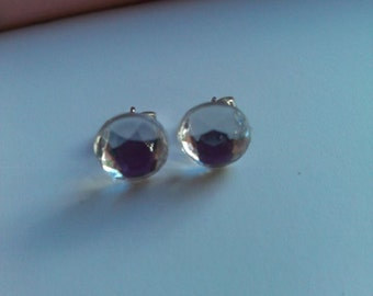 Clear gem earrings