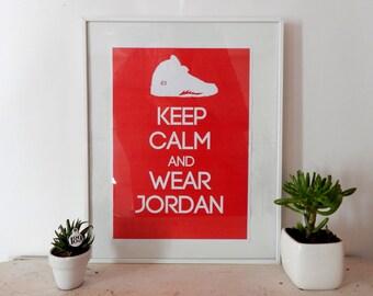 poster - Keep calm and wear Air Jordan V
