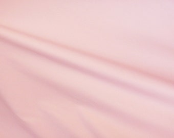 """Pale Pink Cotton Spandex Fabric, Spandex Fabric,Pink Stretchy Cotton, Women Fabric, Cotton Spandex Fabric, Sewing Supplies, 57""""W by YARD"""