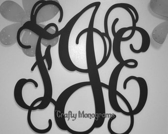 "26"" Painted Wooden Monogram - Wooden Monogram Wall Hanging - Nursery Decor"