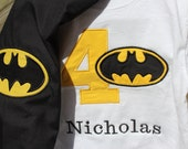 Batman Birthday Shirt with Cape