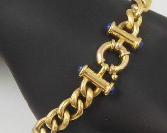 Estate Treasure: Italian Made 18K Yellow Gold Link Bracelet