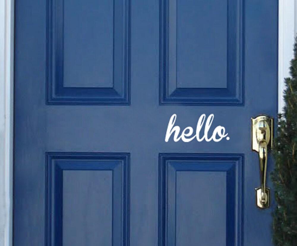 Hello Door Decal Vinyl Decal Sticker Front Door