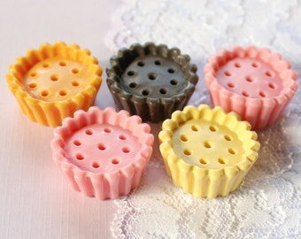 5 Pcs Big Cupcake Bottoms Cabochons - 27x12mm