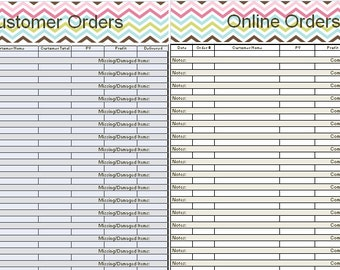 customer orders tracker for origami owl designers