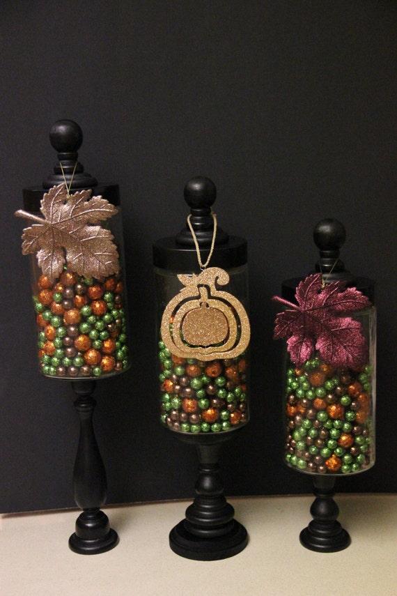 apothecary jars glass decor candy christmas display holiday