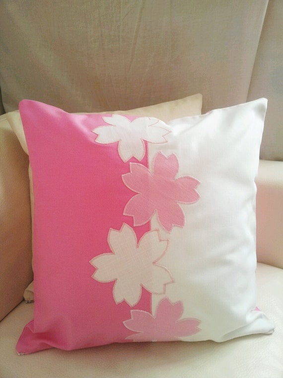 Etsy Pink Throw Pillow : pink floral throw pillow cover /cushion cover cover / pink throw pillow cover decor housewares ...