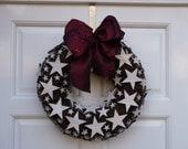 christmas wreath - star wreath- rustic wreath- christmas decoration- stars- natural decoration- door wreath - wooden stars.
