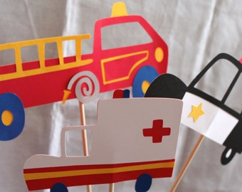 Rescue Me Transportation Centerpiece