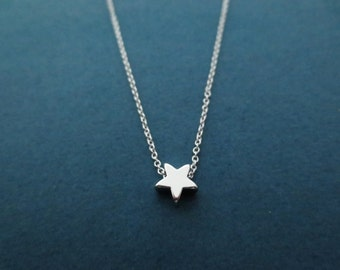 Tiny, Cute, Silver, Star, Necklace, Modern, Minimal, Dainty, Rose gold, Star, Jewelry, Birthday, Lovers, Firnedship, Gift, Jewelry