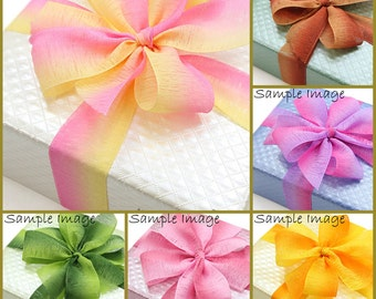 10Yd,50yd 30mm   Sherbet two-tone Organza Ribbon  for gift wrapping, party favors, Christmas wrapping 14 Colors  30mmX9,45M