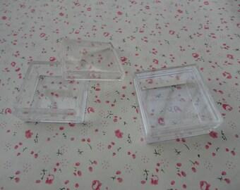 20 PCS 35mmx35mmx15mm-Small Clear Plastic Boxes, Display Boxes, Clear Display Cases,Transparent plastic box