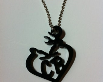 Doe and Buck Custom Personalized Necklace Pendant