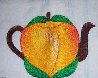 Peach Teapot