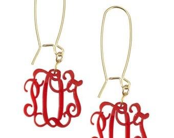 Monogram Acrylic Earrings