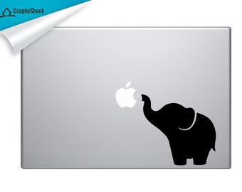 Super Cute Elephant Mac Decal Vinyl Laptop Decal Macbook Stickers Elephant Decal Mac 11 13 15 15 Inch / HUGE SALE